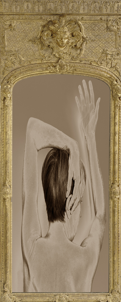 Model In Antique Frame   Photograph by Raphael Shevelev