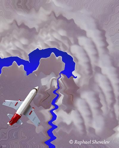 Flight to Sapphire Lake