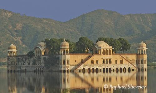 India Rajasthan Jai Mahal near Amber Fort photograph by Raphael Shevelev