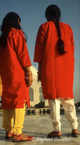 Sisters at the Taj