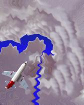 Flight to Sapphire Lake abstract image digital art photograph Raphael Shevelev
