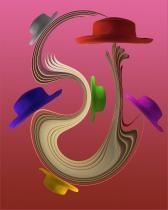 Hats abstract digital art photograph Raphael Shevelev
