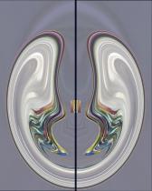Music School Doors abstract image digital art photograph Raphael Shevelev