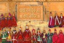 India folk puppets Jaisalmer Rajasthan photograph by Raphael Shevelev
